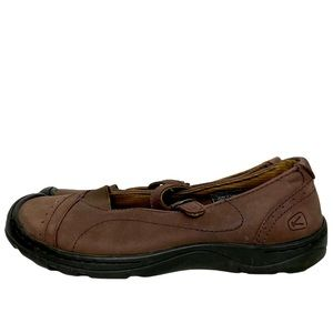 Keen Snapper Mary Jane Shoes Brown Buckle 8.5